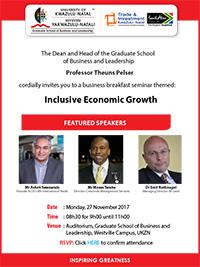 GSB&L Business Breakfast - Inclusive Economic Growth